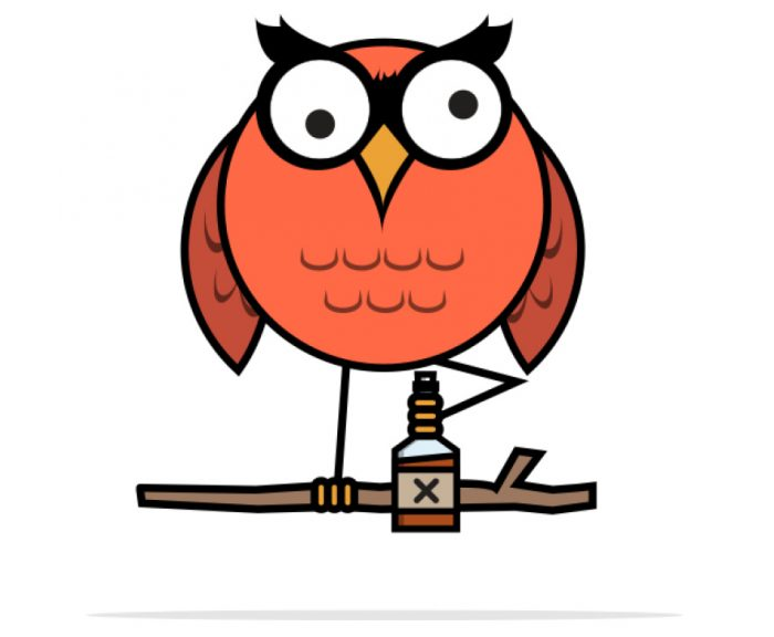 Be Wise logo of Party F Owl
