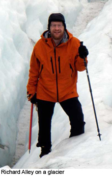Richard Alley on glacier