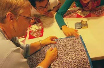 Quilts and Community class