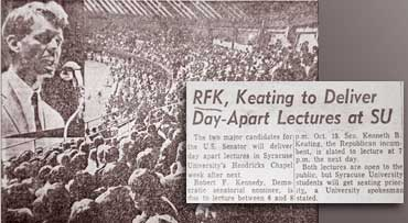 Robert F. Kennedy at Syracuse University versus Keating