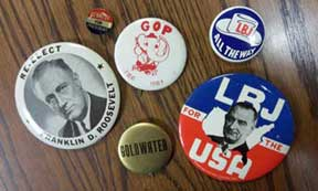 Archives political buttons