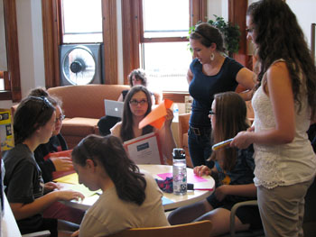 During the Girls Leadership Academy for Music, young women from 14-17 from area middle and high schools develop leadership skills through workshops, listening to guest speakers, interacting with mentors and other activities.