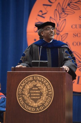 "Professor Timothy Eatman of the School of Education tells students ""the 'Cuse"" is a very special place."