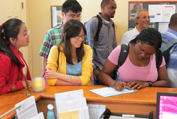 The Slutzker Center for International Services welcomes international students to SU.