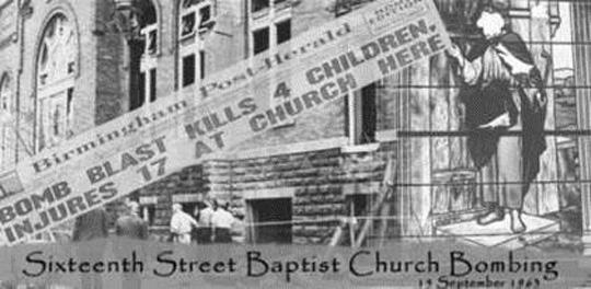 Birmingham, Alabama's Sixteenth Street Baptist Church was bombed on Sept. 15, 1963. Four girls were killed in the blast.