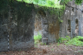 The remnants of an 18th-century British slave trading fort in Sierra Leone, where Professor Christopher DeCorse has been doing research for many years.