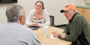 The Gebbie Clinic's aphasia group is one of many beneficiaries of CSD's new home. Aphasia is a neurological disorder, most commonly caused by stroke, resulting in problems with speaking, listening, reading and writing.