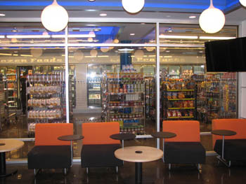 An updated FoodWorks at Graham Dining Center has a new lounge area, along with an expanded selection of food items.