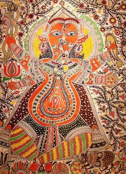 Ganesh Mithila painting