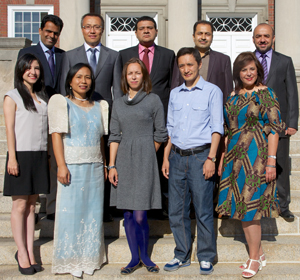 The Humphrey Fellows are mid-career professionals representing eight countries.