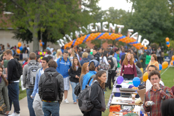 2012 Student Involvement Fair on the Quad