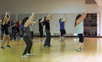 A Zumba class from last semester
