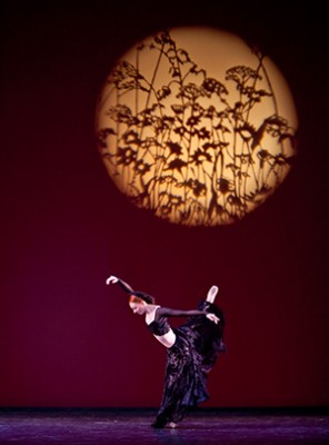 "An artist of the Houston Ballet II in ""A Dance in the Garden of Mirth"" (Photo by Amitava Sarkar)"