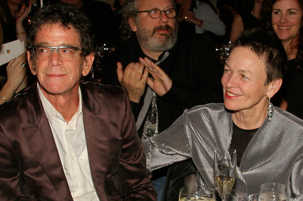 Lou Reed '64, left, received the George Arents Award in 2007 from Syracuse University, for excellence in writing and the arts. The Arents Award is SU's highest alumni honor.