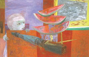 """Yasuo Kuniyoshi, """"Forbidden Fruit,"""" 1950"""