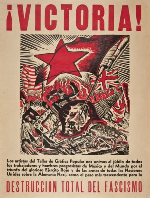 """Angel Bracho, """"Victoria! Los Artistas de Taller de Grafica Popular,"""" 1945"""