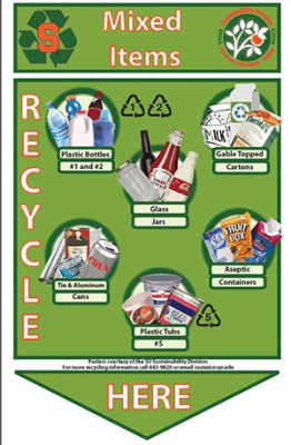 One of the three new recycling posters