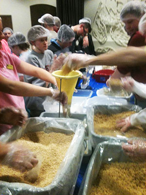 Students will package 20,000 meals Saturday evening as part of the SU Hunger Games.