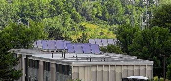 Solar panels have been installed on South Campus apartments.
