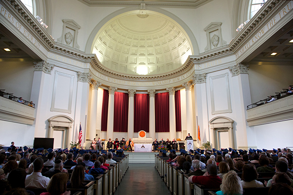 The 2013 Honors Convocation, held in Hendrocks Chapel