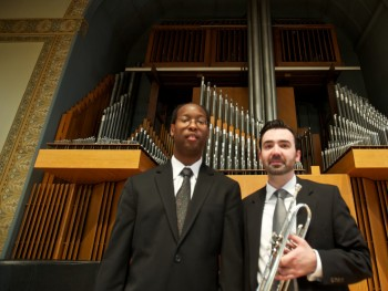 Kola Owolabi with Gabriel DiMartino