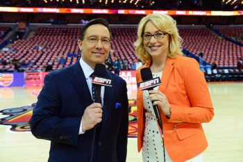 ESPN's Dave O'Brien and Doris Burke