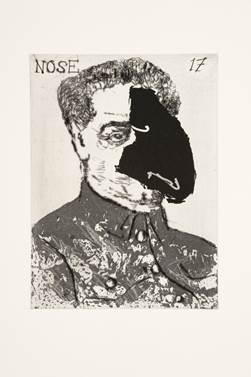"""William Kentridge, """"Nose 17"""""""