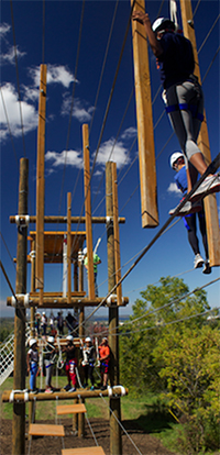 The Challenge Course located on south campus opened in September 2013.