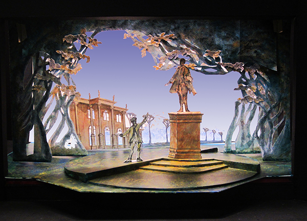 "Model of ""As You Like It"" by Alex Koziara, associate professor of theater design and technology in the Department of Drama"