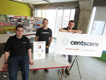 The Centscere team members are, from left, Mike Smith, Ian Dickerson and Frank Taylor.