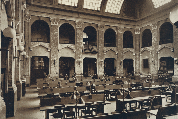 Carnegie Library reading room, 1907.