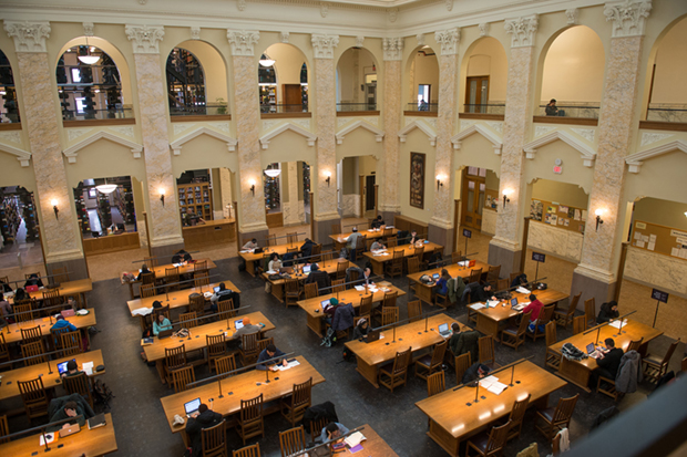 Carnegie Library reading room, 2014.