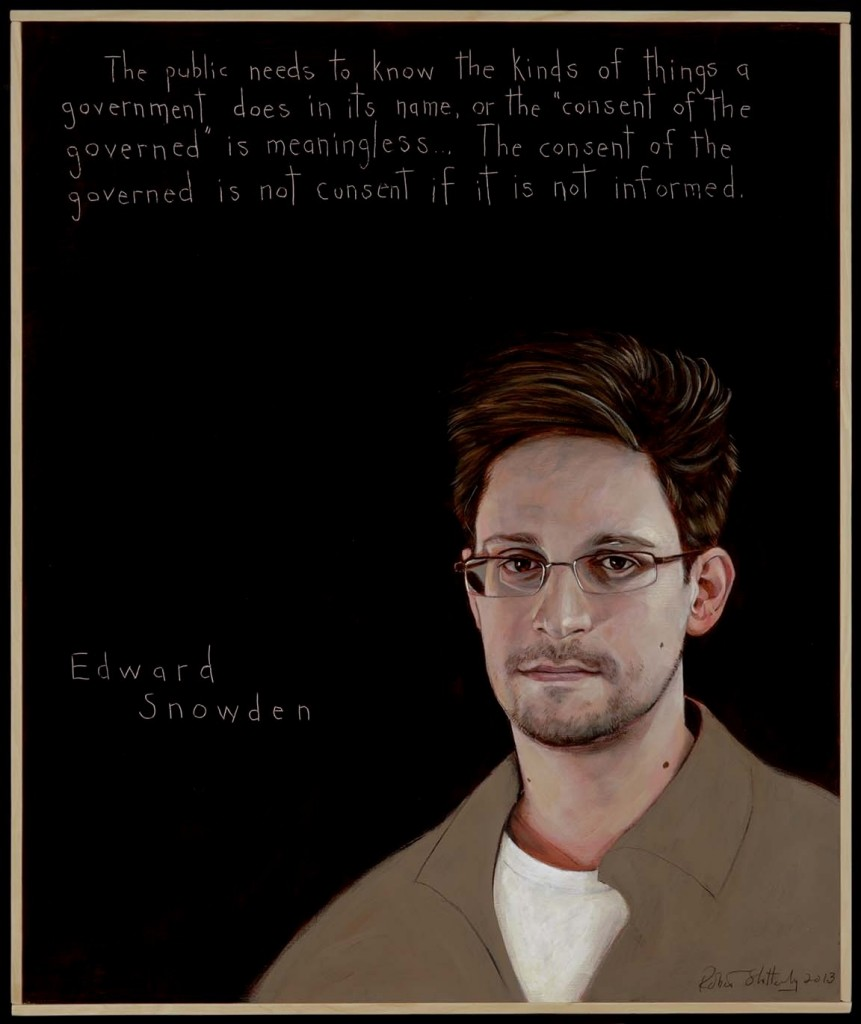 Edward Snowden Portrait by Robert Shetterly (2)