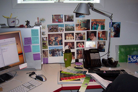 Personal items in a workspace can often be a conversation starter.