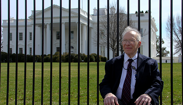 Richard Garwin outside the White House