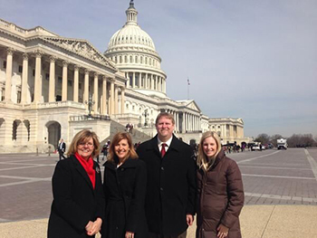 James Schmeling on Capitol Hill with staff members