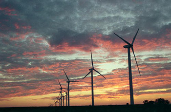 Syracuse University has been purchasing green power, such as that from wind farms, since 2005.