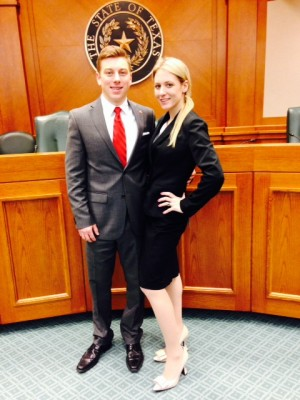Jason Krisza L'14 and Jennifer Camillo L'15 placed fifth in the National Trial Competition.