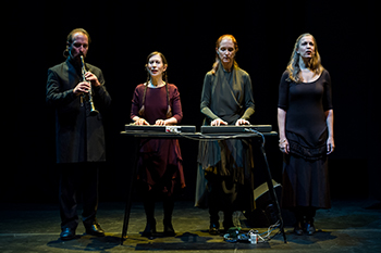 Meredith Monk, second from left, and Vocal Ensemble
