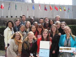 The Maxwell Model UN team in New York City