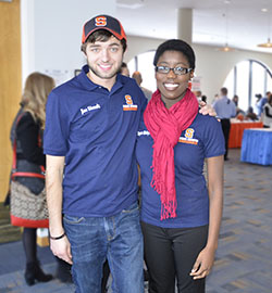 Career ambassadors Joe Simek and Maryann Akinboyewa