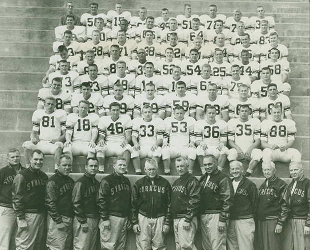 Team photo of the 1959 national football champions.