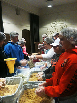 The Lutheran Campus Ministry engaged in several community service projects this year.