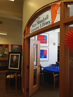 The Mary Marshall Library was dedicated recently.