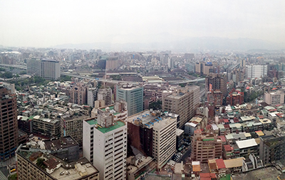 The Taipei skyline
