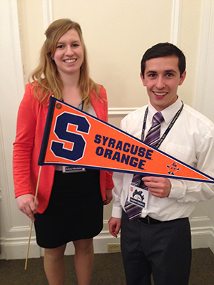 Kelsey Monteith and Stephen DeSalvo represented the University at the asdfasdfsd in April.