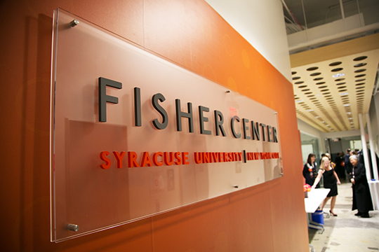 Students, faculty, staff, alumni and friends celebrated the opening of the Syracuse University Fisher Center Tuesday. The Fisher Center is the University's new consolidated academic campus in New York City.