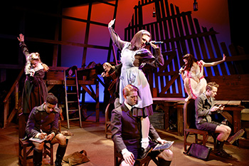 The cast of Spring Awakening, the final production of the Department of Drama's 2013-14 season. Photo: Michael Davis.