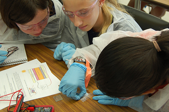 Girls explore the world of engineering in Project ENGAGE.
