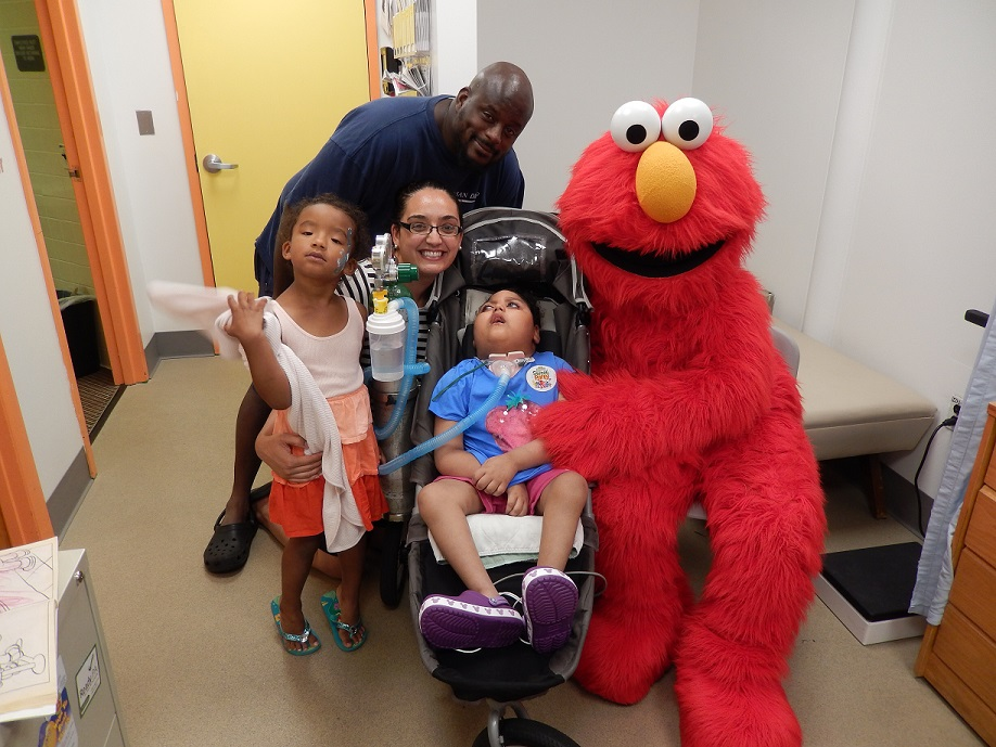 Stephanie Irwin and R. Scott Freeney brought their daughters, 5-year-old Addison and 4-year-old Anya, to Sesame Place and made some new friends. Irwin is the assistant to the dean in the School of Architecture and Freeney is an academic advisor in the College of Engineering and Computer Science.